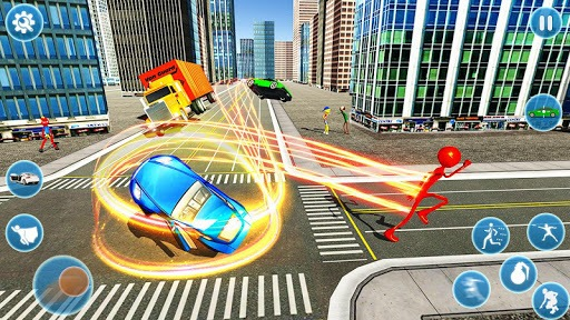 Flash Stickman Rope Hero – Speed Hero Crime City pc screenshot 1
