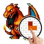 Pokemon - Free Coloring by Number Pixel Art Games icon