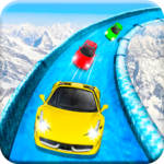 Frozen Water Slide Car Race; Aqua Park adventure icon