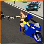 Police Car Vs Theft Bike icon