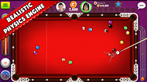 Pool Strike Online 8 ball pool billiards with Chat pc screenshot 1