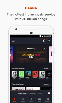 Gaana Music - Hindi Tamil Telugu MP3 Songs Online pc screenshot 2