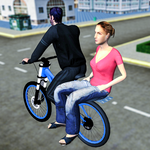 BMX Bicycle Taxi Driving Sim 2018 icon