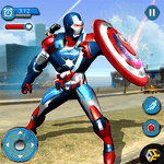 Flying Robot Captain Hero City Survival Mission icon