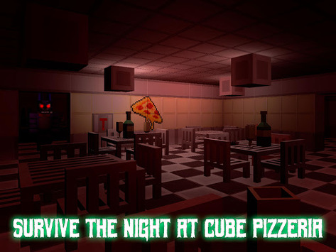 Nights at Cube Pizzeria 3D – 2 pc screenshot 1