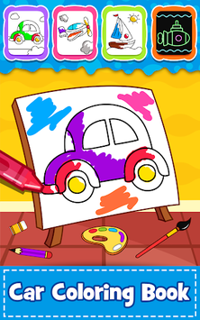 Cars Coloring Book for Kids - Doodle, Paint & Draw pc screenshot 1