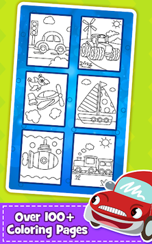 Cars Coloring Book for Kids - Doodle, Paint & Draw pc screenshot 2