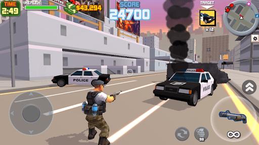 Grand Gangster City: Pixel 3D Gun Crime Game PC screenshot 1
