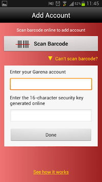 Garena Authenticator pc screenshot 1