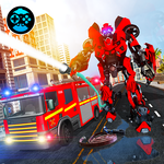 Firefighter Real Robot Rescue Firetruck Simulator icon