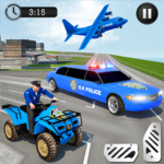 US Police Limousine Car: Truck Transporter Game icon