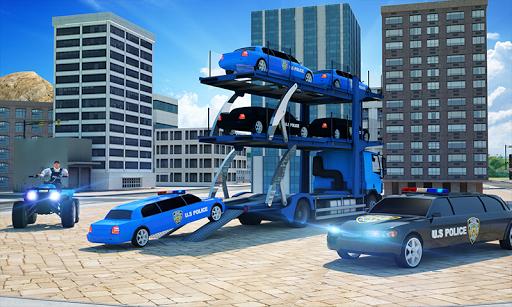 US Police Limousine Car: Truck Transporter Game pc screenshot 1