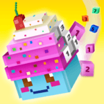 Voxel Island - Color 3D pixel blocks by numbers icon