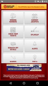 Maryland Lottery Official App pc screenshot 1
