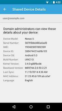 Google Apps Device Policy pc screenshot 1