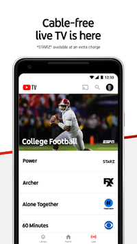 YouTube TV - Watch & Record Live TV pc screenshot 1