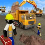 Stickman City Construction Excavator for pc logo
