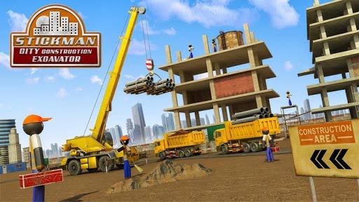 Stickman City Construction Excavator PC screenshot 1