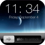 Lock screen slider icon