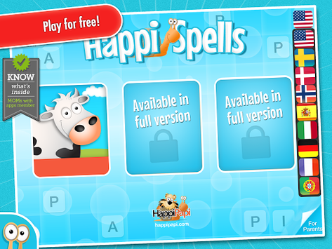 Happi Spells Free pc screenshot 1