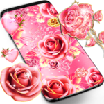 Pink rose gold live wallpaper icon