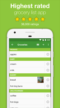 Our Groceries Shopping List pc screenshot 1