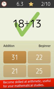 Mental arithmetic (Math, Brain Training Apps) pc screenshot 2