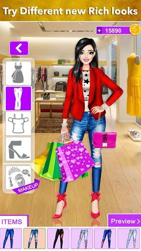 Rich Girl Shopping Dress Up: Fashion Game PC screenshot 1