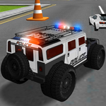 Police Car Driving Training for pc logo
