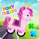 Pony Friends 🦄 - Beepzz racing game for kids icon