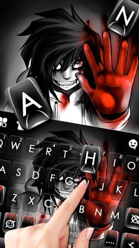 Creepy Killer Jeff Keyboard Theme pc screenshot 1