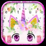 Cute Unicorn Girly Keyboard Theme icon