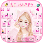 Cute Wink Girl Keyboard Theme icon