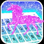 Glistening Unicorn Keyboard Theme icon