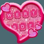 Glitter Heart Emoji Keyboard 💖💜🎀 icon