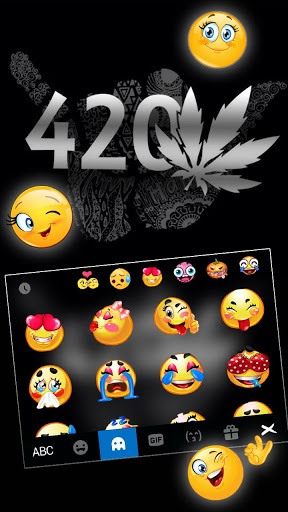 Metal Weed 420 Keyboard Theme pc screenshot 1