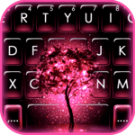 Neon Pink Galaxy Keyboard Theme icon