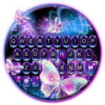 Sparkle Neon Butterfly Keyboard Theme for pc logo