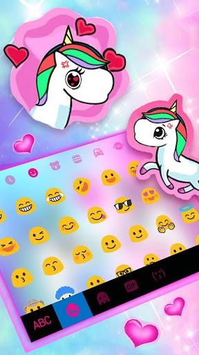 Unicorn Love Keyboard Theme pc screenshot 1