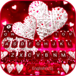 Valentine White Hearts Keyboard Theme icon