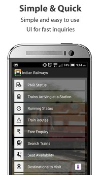 Indian Railways train enquiry pc screenshot 1