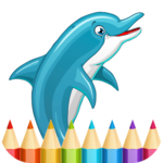 Dolphins Coloring Pages icon
