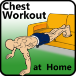 30 days chest workout challenge at home icon