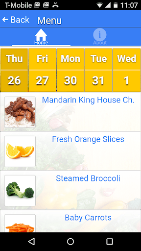 Web Menus for School Nutrition PC screenshot 2