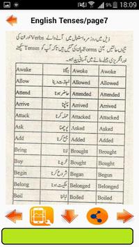English Tenses  in Urdu pc screenshot 2