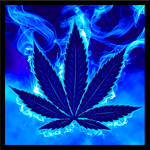 Blue Weed Rasta Keyboard icon