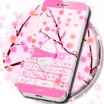 Pink Spring Flowers Keyboard icon
