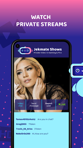 Jekmate Shows - Private Video Streaming & Pics PC screenshot 1