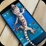 Lizard in phone funny joke icon