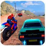 Spiderman Car Vs Bike Race Ultimate for pc logo